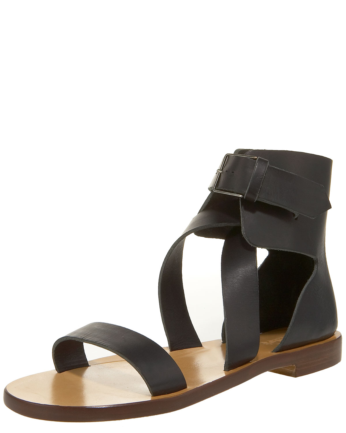 Chlo 233 Ankle Wrap Flat Sandal In Black Lyst
