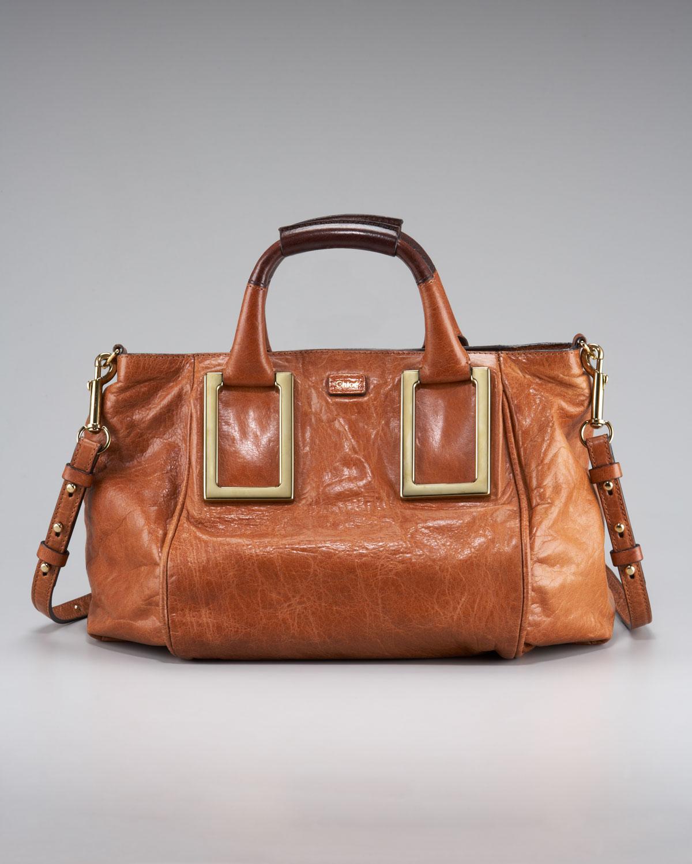 0eaf280107 Chloé Ethel Long-strap Satchel, Medium in Brown - Lyst