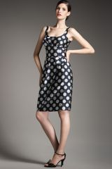 Giorgio Armani Polka-dot Sheath Dress - Lyst