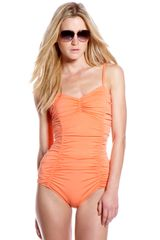 Michael Kors Shirred Swimsuit - Lyst