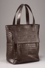 Nancy Gonzalez Pocketed Crocodile Tote - Lyst