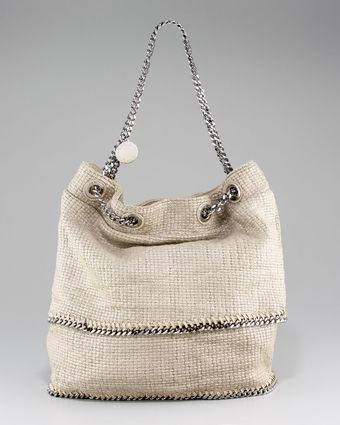 Stella McCartney Chain-strap Tricot Satchel - Lyst