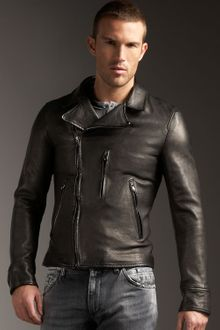 Dolce & Gabbana Leather Motorcycle Jacket - Lyst