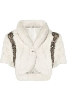 Matthew Williamson Embellished Rabbit Shrug - Lyst