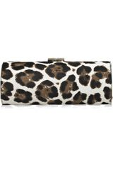 Jimmy Choo Tube Leopard-print Calf Hair Clutch - Lyst