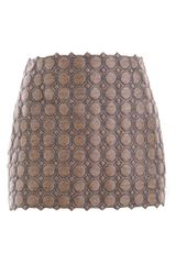 Balenciaga Quilted Silk Skirt in Beige - Lyst