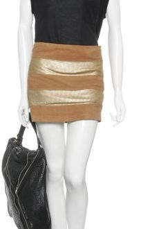 Haute Hippie Metallic Detail Leather Mini Skirt - Lyst