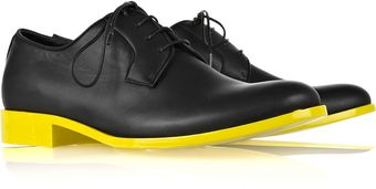 Jil Sander Contrast Leather Lace-up Brogues - Lyst