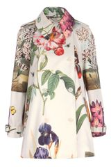 Stella McCartney Botanical Cropped Trench Coat - Lyst
