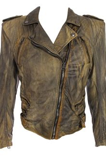 Balmain Leather Motorcycle Jacket with Tails - Lyst