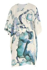 Boudicca Silk Abstract Floral Print Kaftan Dress - Lyst