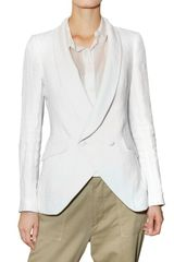 Boy by Band Of Outsiders Double Breasted Linen Jacket - Lyst
