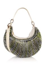 Diane Von Furstenberg Metallic Lime Stephanie Medium Shoulder Bag - Lyst