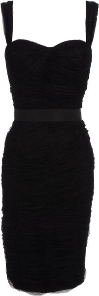 Dolce & Gabbana Tulle Corseted Dress in Black - Lyst