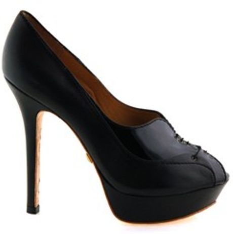 L.a.m.b. Valeria Oxford Heels in Black - Lyst