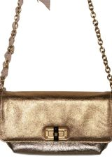 Lanvin Happicolo Laminated Bufalo Shoulder Bag - Lyst