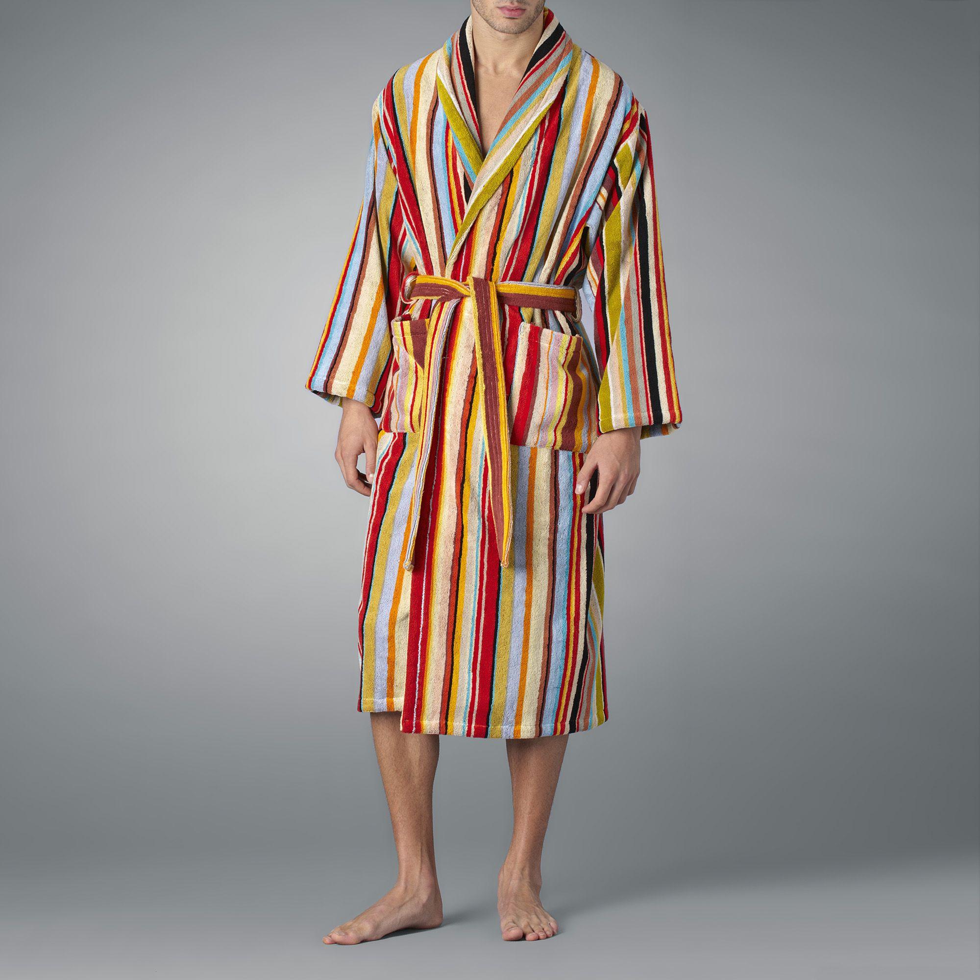 6cef8f0b3cbd Paul Smith Striped Towelling Robe for Men - Lyst