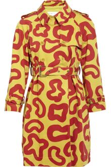 See By Chloé Printed Cotton Trench Coat - Lyst