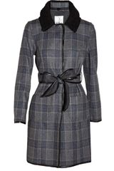 Tibi Reversible Belted Wool-blend Coat - Lyst