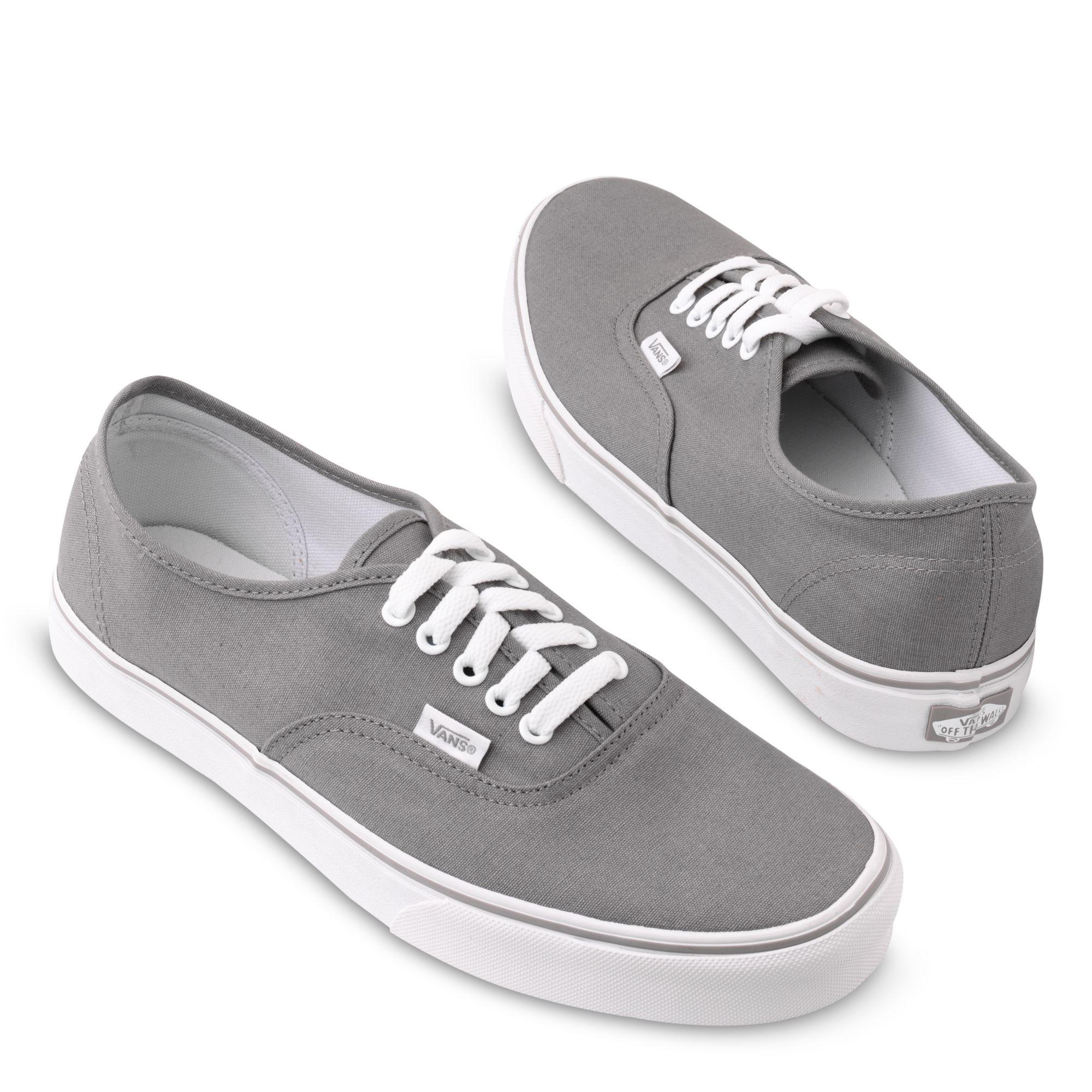 d1296c1d27 Vans Authentic Basic Plimsolls in Gray for Men - Lyst