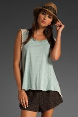 Free People We The Free Round Up Crochet Top in Heather Grey - Lyst