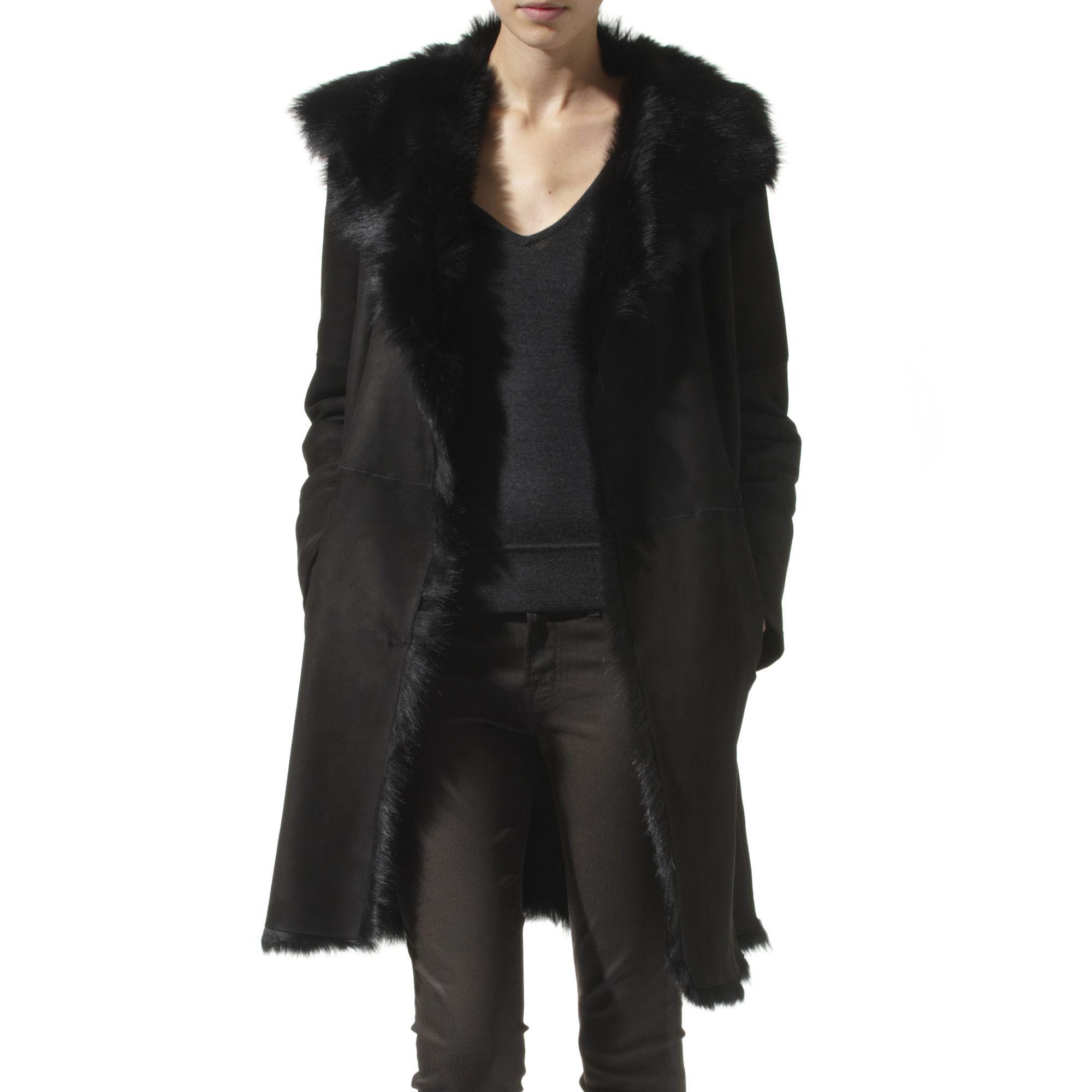 Joseph Lambskin Coat in Black | Lyst