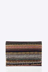 Oscar de la Renta Embroidered Fold Over Clutch - Lyst