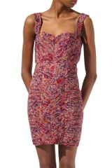 Twenty 8 Twelve Micro Pleat Floral Print Dress - Lyst