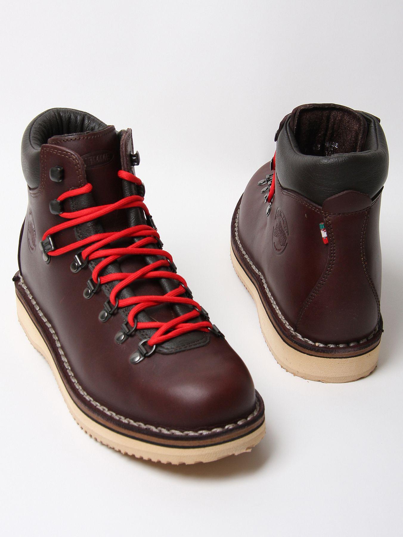 Diemme Full Grain Leather Vibram Sole Boot In Brown For