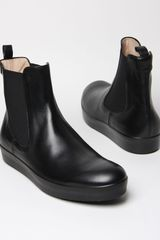 Jil Sander Mens Calf Leather Chelsea Boot - Lyst