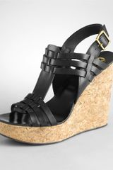 Tory Burch Leslie Woven High Wedge - Lyst