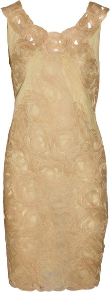 Alberta Ferretti Swirl-detailed Organza Dress - Lyst