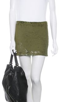 Haute Hippie Sequined Mini Skirt - Lyst