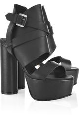 Surface To Air Pandora High Leather Platform Sandals - Lyst
