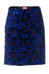 Yeojin Bae Hand Stitched Sequin Mini Skirt - Lyst