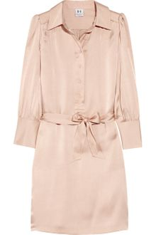 Halston Heritage Silk-satin Shirt Dress - Lyst