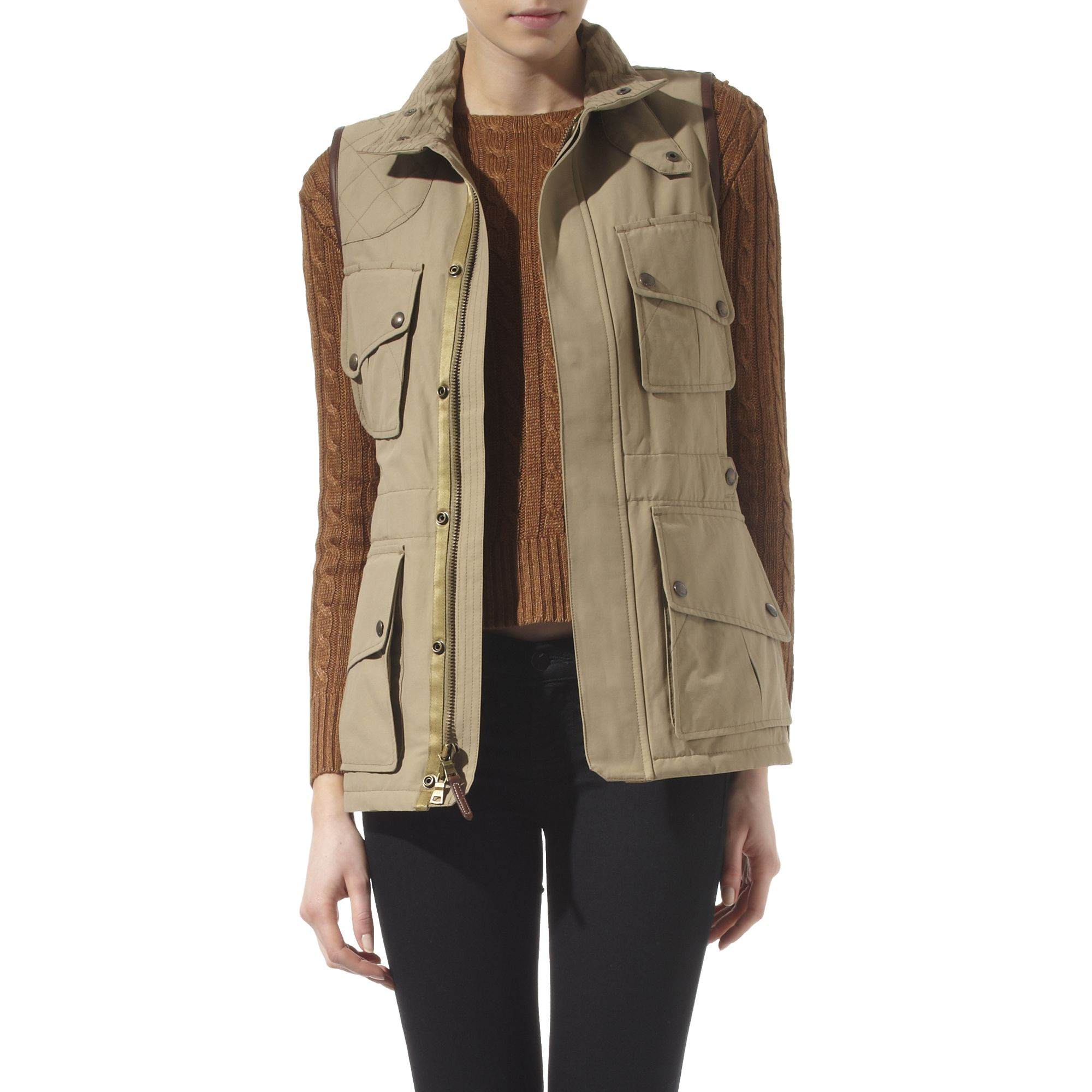 Ralph Lauren Safari Vest In Green Lyst