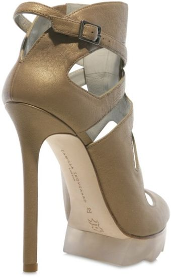 Camilla Skovgaard 120mm Calfskin Cut Out Sandals - Lyst