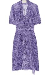 Jason Wu Printed Silk-chiffon Dress - Lyst