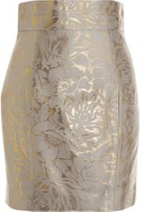 L'Wren Scott Brocade Mini Skirt - Lyst