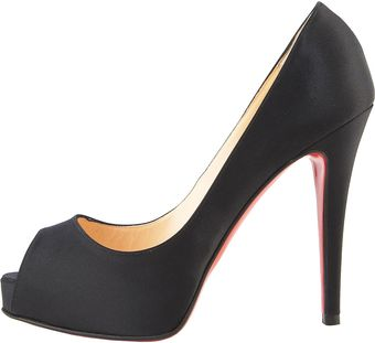 Christian Louboutin Very Prive Satin Platform Pump - Lyst