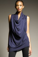 Donna Karan New York Draped Cashmere-silk Tunic - Lyst