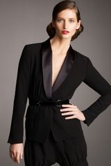 Yves Saint Laurent Satin-collar Smoking Jacket - Lyst
