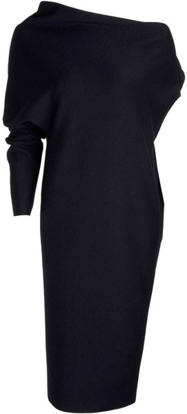 Lanvin One Armed Drape Dress - Lyst