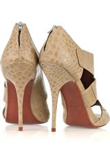 Elizabeth And James E-latch Crocodile-effect Leather Sandals - Lyst