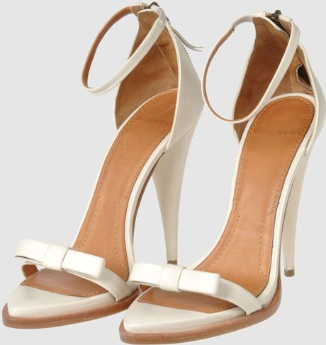 Givenchy High Heeled Sandals In White Ivory Lyst