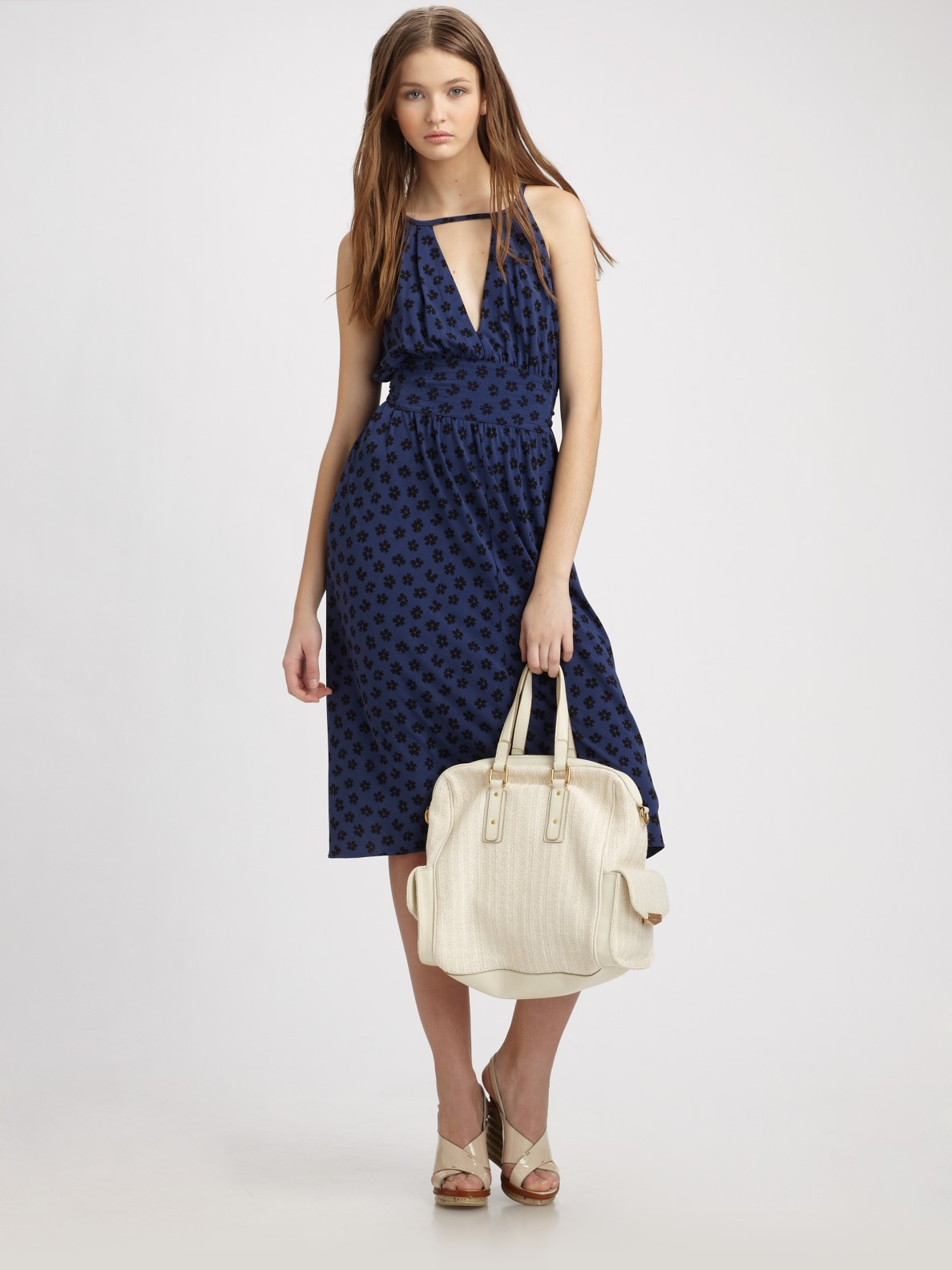 Lyst - Marc By Marc Jacobs Florette Dress in Marine in Blue