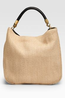 Yves Saint Laurent Raffia Roady Large Hobo - Lyst