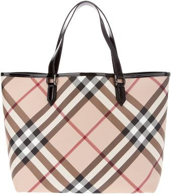 Burberry Nova Check Tote Bag - Lyst