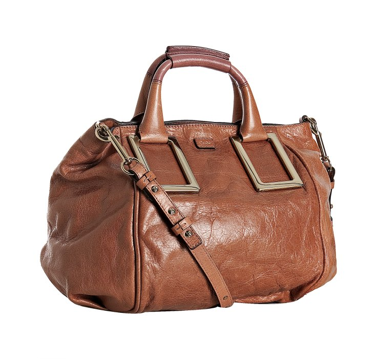 Chlo�� Ethel Long-strap Satchel, Medium in Brown (tan) | Lyst
